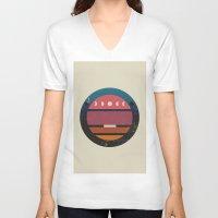 lunar V-neck T-shirts featuring Lunar by Trent Kühn