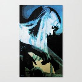 Joni Mitchell Watercolor Canvas Print