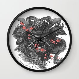Warrior sleeve tattoo Samurai Irezumi Wall Clock