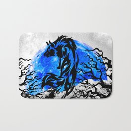WOLF OF THE NIGHT Bath Mat