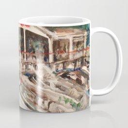 """Marina at Western Bay"" Kelley's Island, Ohio Painting Coffee Mug"