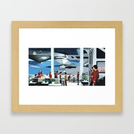 Spacedock Framed Art Print