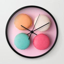 Pink Macaroons Wall Clock