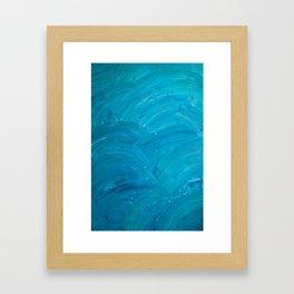 Blue Swipes Framed Art Print