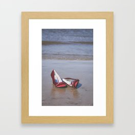 Red High-Heeled Shoes Framed Art Print