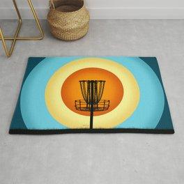 Colorful Disc Golf Basket Rug