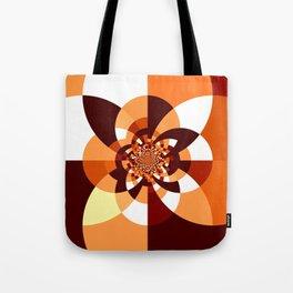 Orange Brown Cream Kaleidoscope Tote Bag