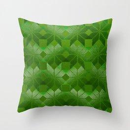 Evergreen, Snowflakes #32 Throw Pillow