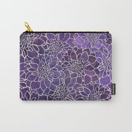 Dahlia Flower Pattern 3 Carry-All Pouch