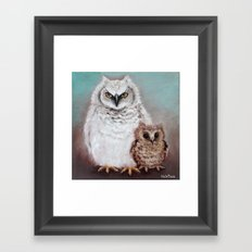 Wol and Weeps - From Owls in the Family - By Farley Mowat Framed Art Print