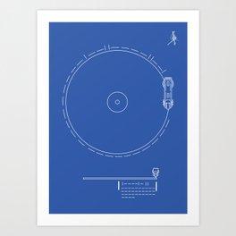 Voyager Golden Record Fig. 1 (Blue) Art Print