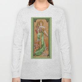 "Alphonse Mucha ""The Seasons (series): Spring"" (1900) Long Sleeve T-shirt"