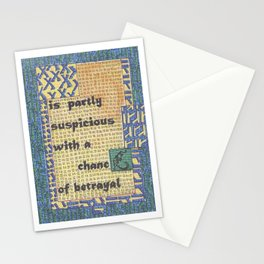 The Weather Today... is Partly Suspicious with a Chance of Betrayal Stationery Cards