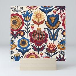 Scandinavian Folk Art Pattern Mini Art Print