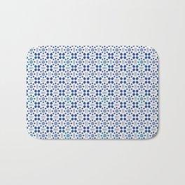 indigo clover tiles Bath Mat