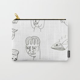 Cartoon character design print with monster people Carry-All Pouch