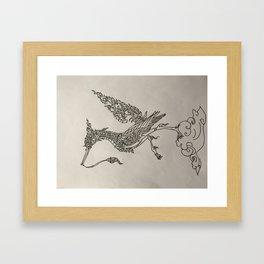 Vogel doet meditatie Framed Art Print