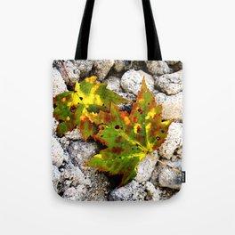Leaves in Gray Tote Bag