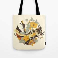 Chipmunk & Morning Glory Tote Bag