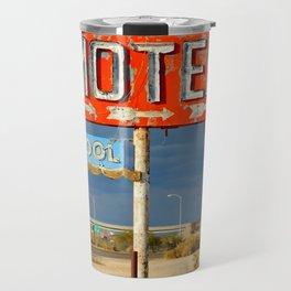 Vintage Motel Road Sign Travel Mug