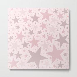 Popping Pink Pastel Stars Metal Print