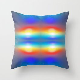 Abstract sunsets Throw Pillow