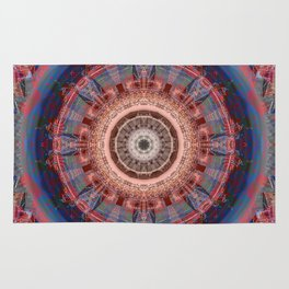 Mandala Glitch Wheel Rug