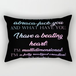 I'm multidimensional Rectangular Pillow