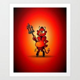 Fat red devil Art Print