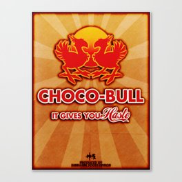 Final Fantasy VII - Choco-Bull Energy Drink Canvas Print