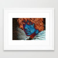 caleb troy Framed Art Prints featuring Troy by Robin Curtiss