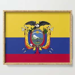Ecuador flag emblem Serving Tray