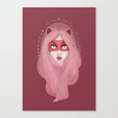 kitty.pink.power Canvas Print