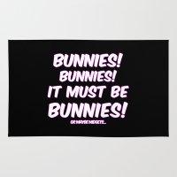 bunnies Area & Throw Rugs featuring Bunnies by Nana Leonti