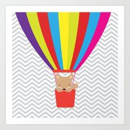 hot air balloon , Art Print