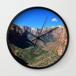 Zion Canyon Utah Wall Clock