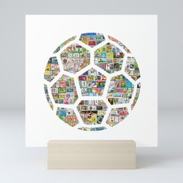 Philately Soccer Ball Mini Art Print