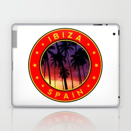 Ibiza, sunset, circle Laptop & iPad Skin