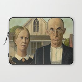 American Gothic Painting - Grant Wood Laptop Sleeve