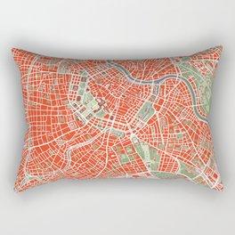 Vienna city map classic Rectangular Pillow