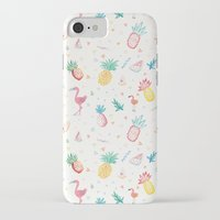 pinapple iPhone & iPod Cases featuring Trop-i-COOL by Laura Francis