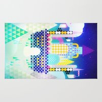 castle in the sky Area & Throw Rugs featuring Castle in the Sky by Alexander Pohl