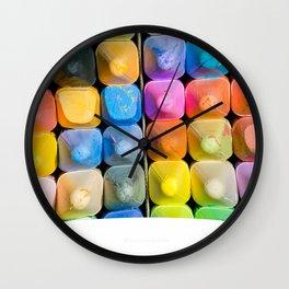 Chalk Art Wall Clock