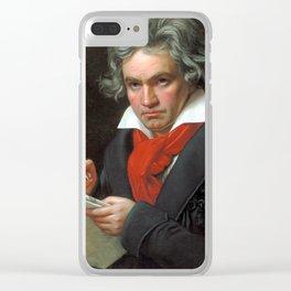 Ludwig van Beethoven Portrait - Joseph Karl Stieler Clear iPhone Case