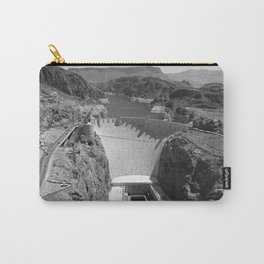 Black and White Hoover Dam - Nevada/Arizona Carry-All Pouch