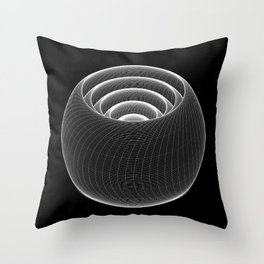 Lathe Layers Throw Pillow