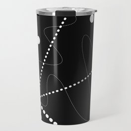 """""""Per aspera ad astra"""". Abstract composition based on the contrast of dots (white dots). Travel Mug"""