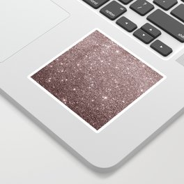 Modern mauve burgundy rose gold glitter Sticker