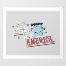 Mostly America Art Print