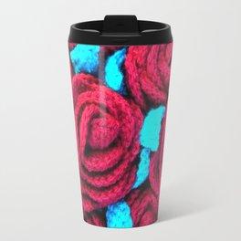 Crocheted Roses Travel Mug